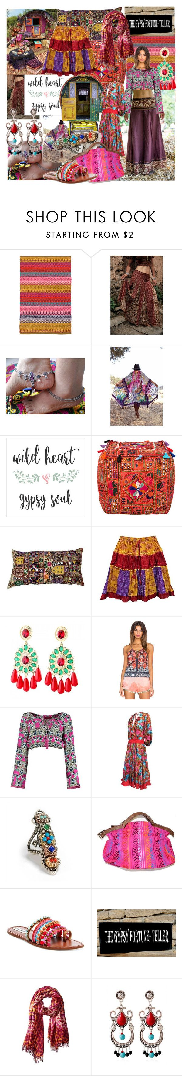 """The gypsy fortune-teller"" by gulokmini ❤ liked on Polyvore featuring Dash & Albert, Bloch, Le Donne, Gypsy05, Boohoo, Sweet Romance, Steve Madden and Theodora & Callum"