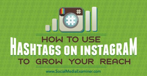 How to Use Hashtags on Instagram to Grow Your Reach http://www.socialmediaexaminer.com/how-to-use-hashtags-on-instagram-to-grow-your-reach/