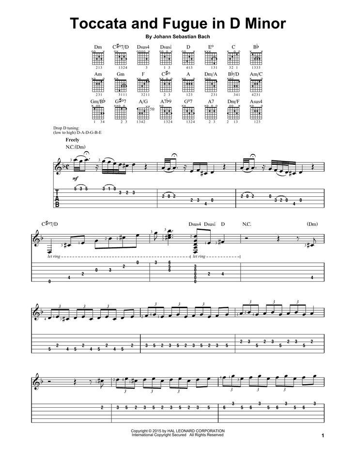 J.S. Bach est un(e) artiste très talentueux(se). Cette chanson, Toccata And Fugue In D Minor, est extrêmement belle. La partition interactive ci-dessous a été écrite avec soin et vous aidera à maîtriser cette pièce rapidement sur votre piano. Partition Tablature guitare facile du titre J.S. Bach: Toccata And Fugue In D Minor