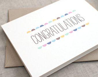 Carte de félicitations - recyclé carte - cercles Semi - mariage, grossesse, nouveau-né, carte de remise des diplômes, carte d'Engagement