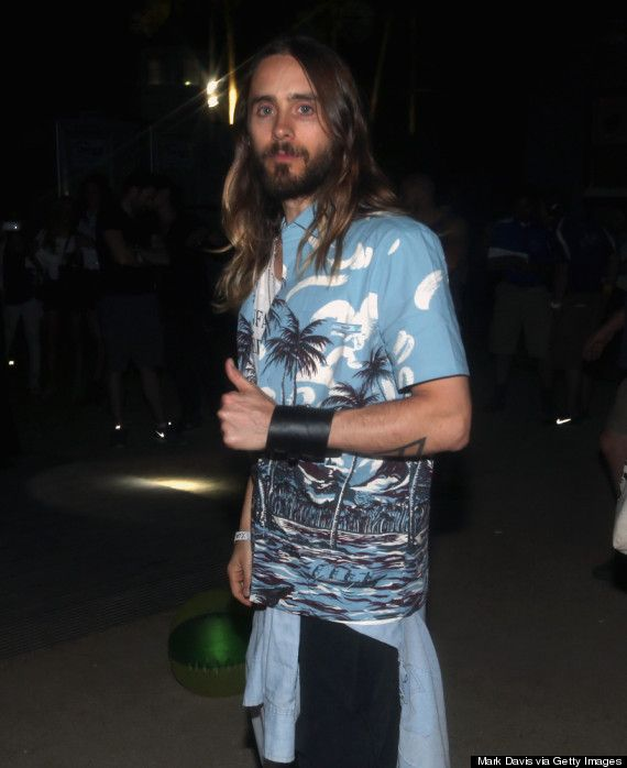 Jared Leto at Coachella  http://www.huffingtonpost.com/2014/04/12/jared-leto-coachella_n_5139508.html