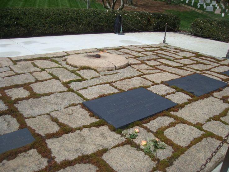 #34 - John F. Kennedy gravesite and eternal flame  -  John F. Kennedy Gravesite  Location: Arlington National Cemetery  Address: Arlington, Virginia