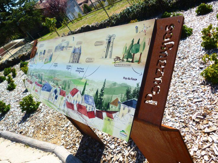 Ville de Pouzauges (85) - Signalétique patrimoniale et commerciale #signaletique #touristique - DL System - www.dl-system.fr -