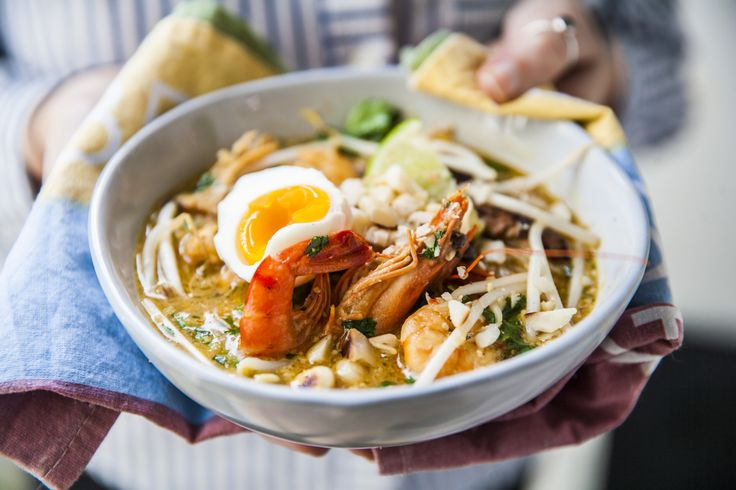 Grilled chicken and prawns laksa recipe halal recipes