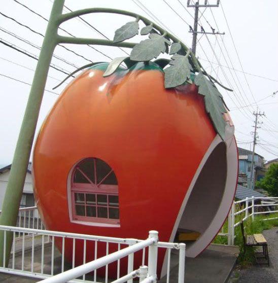 fruit bus stop in Japan, because Japan has all the coolest shit.  (@Dan Uyemura will appreciate this.)