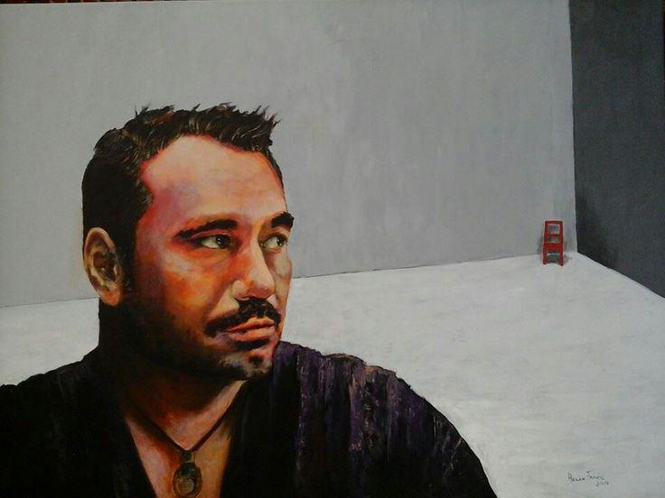 Silla pequēna roja - Acrylic on Stretched Canvas