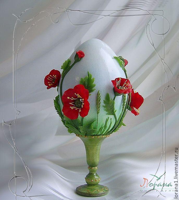 """Купить Пасхальный сувенир. Яйцо """"Маки"""" - Пасха, подарки к праздникам, подарки к пасхе, сувениры"""