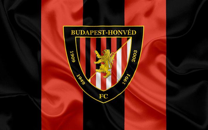 Descargar fondos de pantalla Budapest Honved FC, húngaro equipo de fútbol, Honved emblema, logotipo, Budapest, Hungría, del fútbol, de la liga de fútbol de hungría