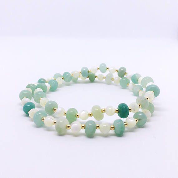 Amazonite Bracelet Calming Bracelet Anxiety Bracelet with
