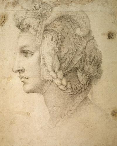 Michelangelo Buonarroti-Studio di testa #TuscanyAgriturismoGiratola