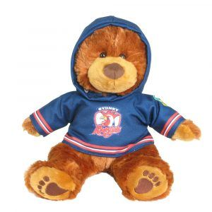 Roosters Plush Toys Supporter t-shirts with hood printed with team colours and logos