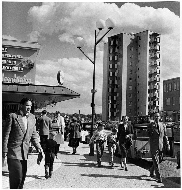 Vällingby Centrum - Foto: Lennart af Petersens, 1954-1959