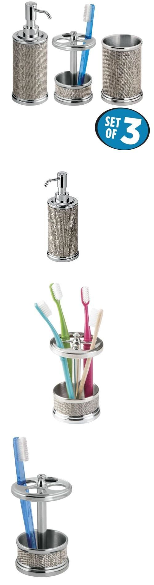 Toilet Brushes and Sets 66723: Mdesign Bath Accessory Set Suction Shower Basket Toilet Bowl Brush And Holder Tr -> BUY IT NOW ONLY: $40.78 on eBay!