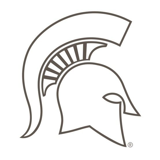 michigan spartan coloring pages - photo#2