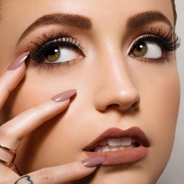 Zoey Mauve nail polish on Kathleen close-up - KL Polish by Kathleen Lights