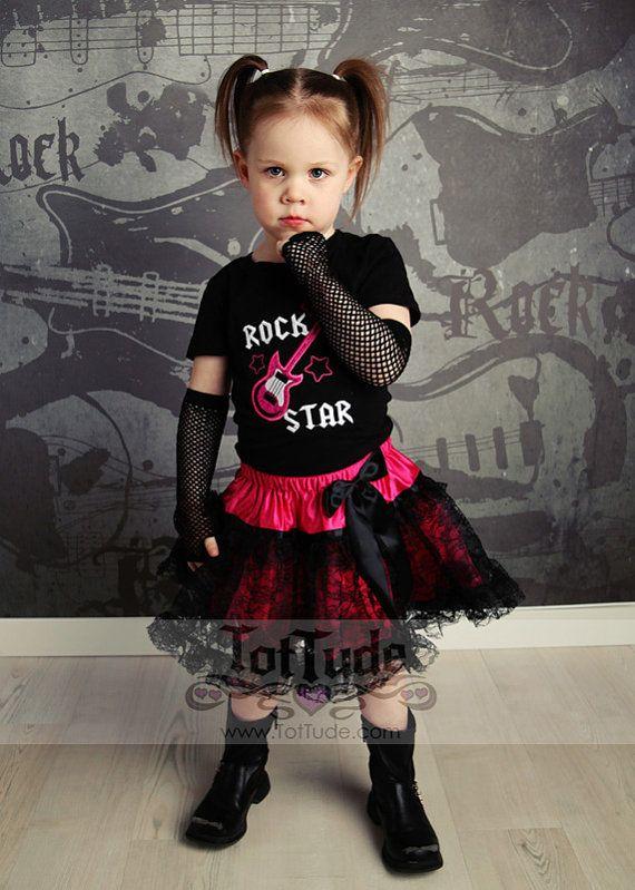 Rock Star Pettiskirt Set for Toddler Girls