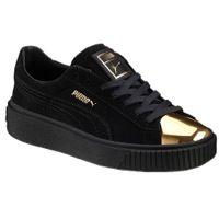 Puma Suede Platform Noir Gold