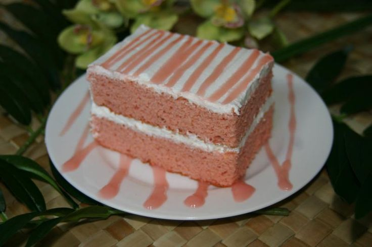 Guava Chiffon Cake.. don't know whether I would bother to make this, perhaps a trip to Leonards or Lilliha.