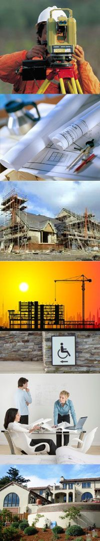 Civil engineering, commercial design, land surveying, land use planning, residential design, structural design