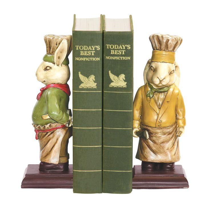 Pair Of Chef Bunny Bookends 91 2799