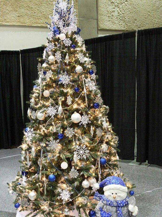 Blue And White Christmas Tree Decoration Merry Christmas Christmas Tree  Christmas Ideas Happy Holidays Merry Xmas Christmas Tree Themes Christmas  Tree Ideas ...