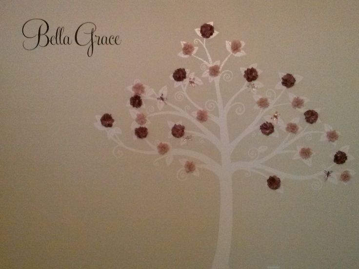 tree from wall pop and flowers by jolee perfect for the princess room
