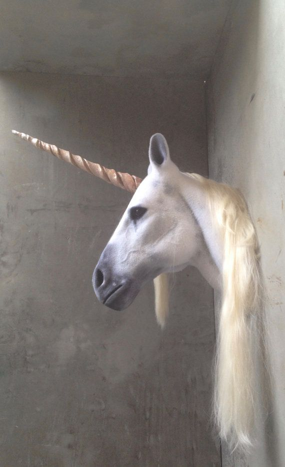 Faux Taxidermy Unicorn Head Animal Friendly by BrokenHare on Etsy
