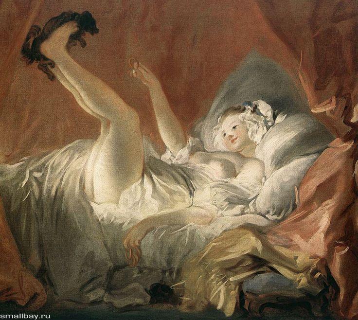 Фрагонар Девушка, играющая с собачкой