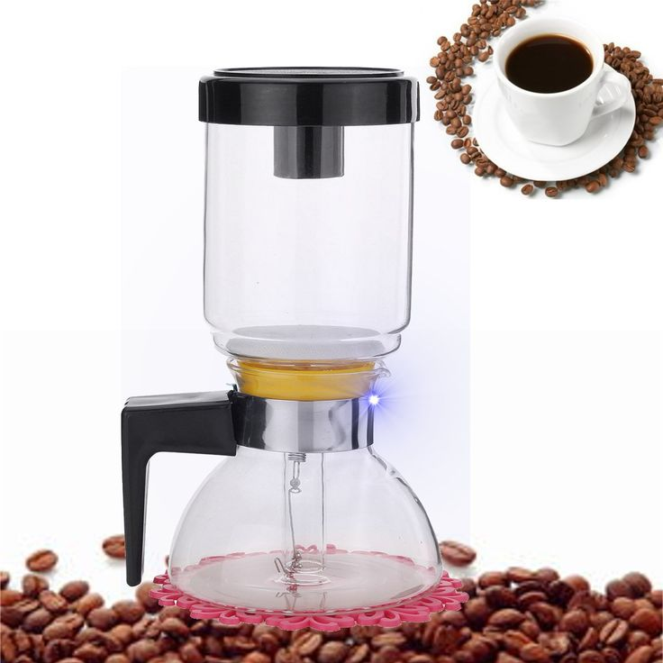 205x108mm Drip Coffee Maker Transparent Glass Siphon Coffee Maker Coffee Pot 2 Cups Kitchen Grinding Tool High Quality