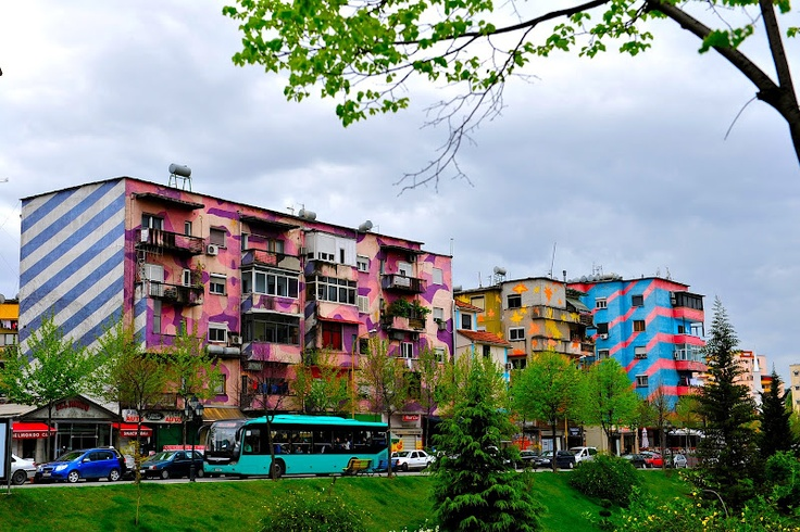 Tirana's painted buildings