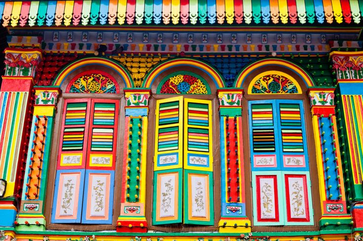 There are plenty of bold buildings in Singapore, but this attraction in Little India might take the cake for most colorful. The house — one of the last standing Chinese villas in Little India — was built in 1900 by a Chinese businessman who had factories nearby. It was restored years later with the colorful palette and now houses many local businesses. Read more at National Heritage Board and Singapore Guide »