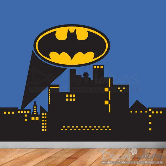 25 best ideas about kids wall murals on pinterest kids for Batman wall mural decal