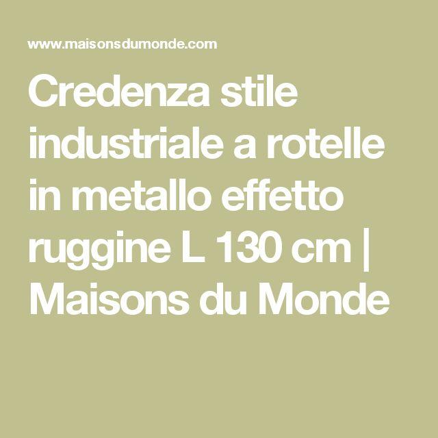 Credenza stile industriale a rotelle in metallo effetto ruggine L 130 cm | Maisons du Monde
