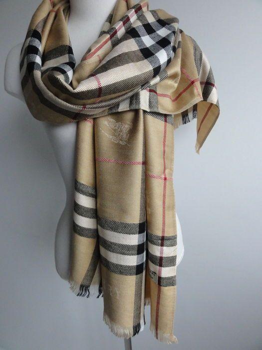 Online veilinghuis Catawiki: Burberry - omslagdoek - sjaal - nieuw