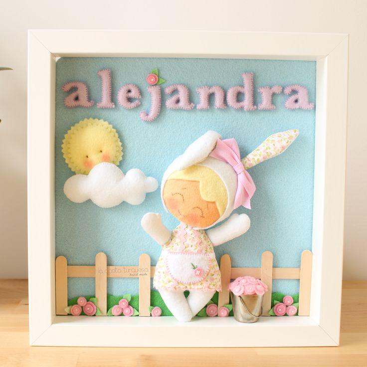 Alejandra. Cuadro personalizado hecho a mano