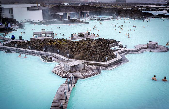 Afslapning i Den Blå Lagune, Island.