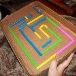 Cardboard Marble Maze from www.therapyfunzone.net - great DIY for visual motor skills