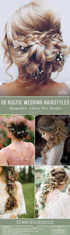 36 Rustikale Hochzeitsfrisuren – Wedding Hairstyles & Updos