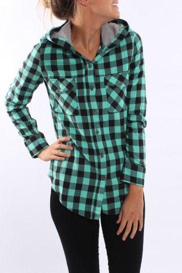 Hurley - The Wilson Hooded Shirt Aquamarine