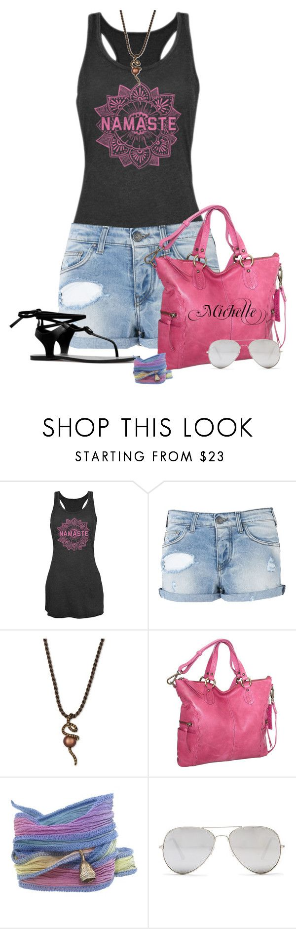 """""""Namaste"""" by michellesherrill ❤ liked on Polyvore featuring Chin Up, Armani Jeans, LE VIAN, Nino Bossi Handbags, Catherine Michiels and Sunny Rebel"""