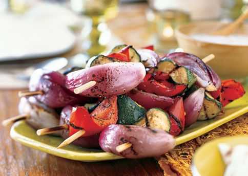 Grilled Vegetables with Mint Raita | Recipe