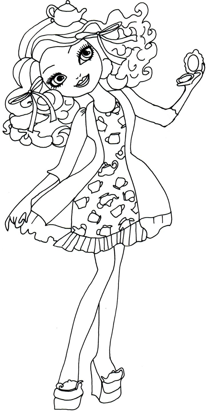 286 best 2 color ever after high images on pinterest for Madeline coloring pages
