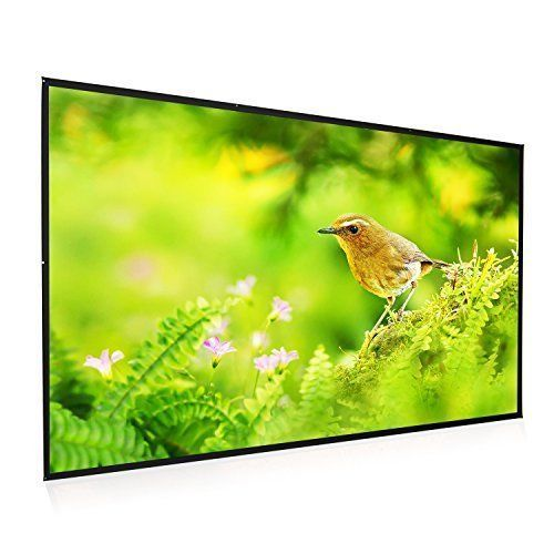 """Outdoor Movie Portable Projector Screen 100"""" Wall Mounted PVC Home Theater 16:9 #PortableProjectorScreen100"""
