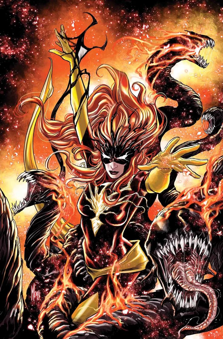 Jean Grey #7 (2017) Phoenix Force Venomized Variant Cover by Marco Checchetto