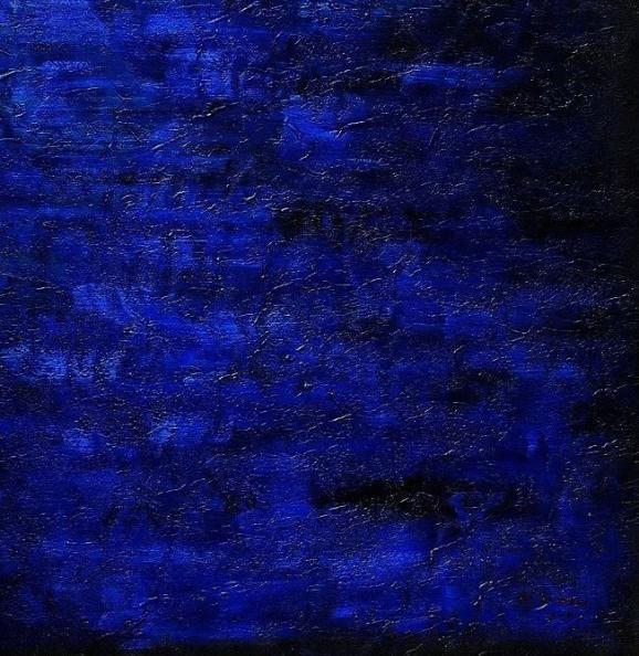 www.kunstvoorinhuis.nl, schilderij donker blauw