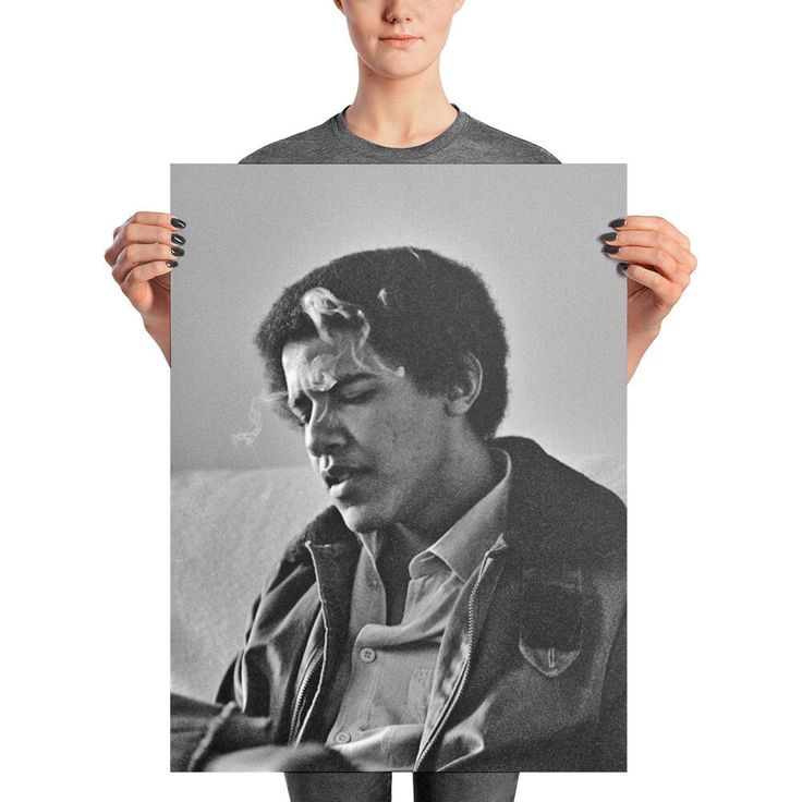 Young Barack Obama - Smoking Poster Print by BudgetNudestClothing on Etsy https://www.etsy.com/listing/574493275/young-barack-obama-smoking-poster-print