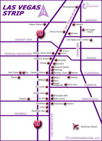 Las Vegas Map Las Vegas Strip Map Las Vegas Hotels On