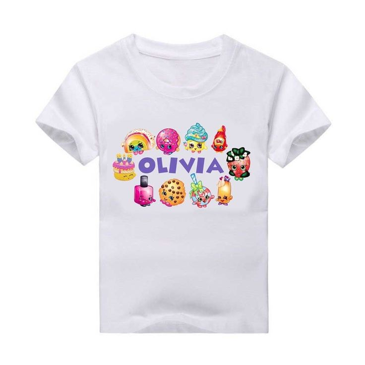 25 best shopkins party ideas images on pinterest for Personalized t shirt bags