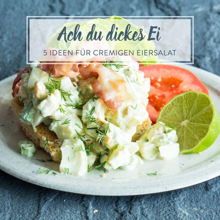 Mal klassisch mit Mayo, mal gesund mit Avocado, mal raffiniert mit Kapern - diese 5 Eiersalate zeigen, was sie alles auf dem Kasten haben.