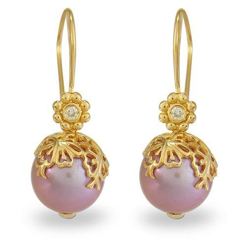 Blossom Copenhagen Gold Plated Silver Peach Pearl & CZ Hook Earrings: http://www.gemondo.com/p-21125-blossom-copenhagen-gold-plated-silver-peach-pearl-cz-hook-earrings.aspx